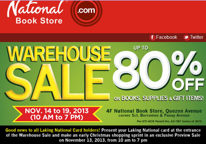 National bookstore warehouse sale